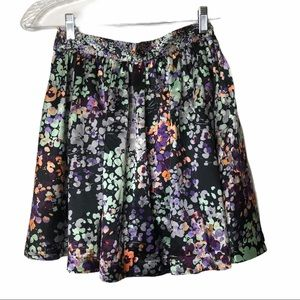 H&M Fit/Flare Black Floral Skirt 4
